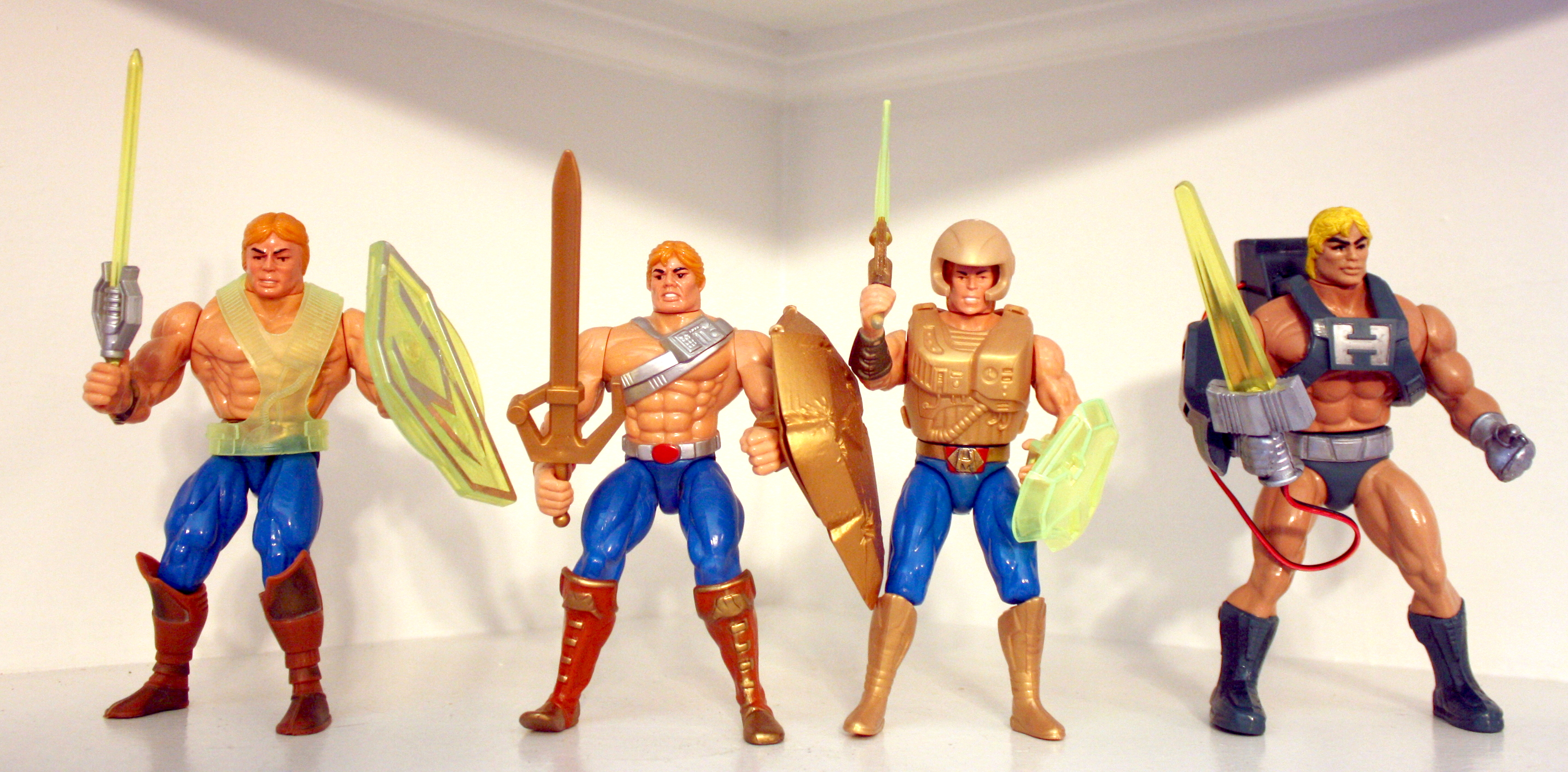 Vintage Masters of the Universe He-Man NEW GLOW Action Figure Stands MOTU