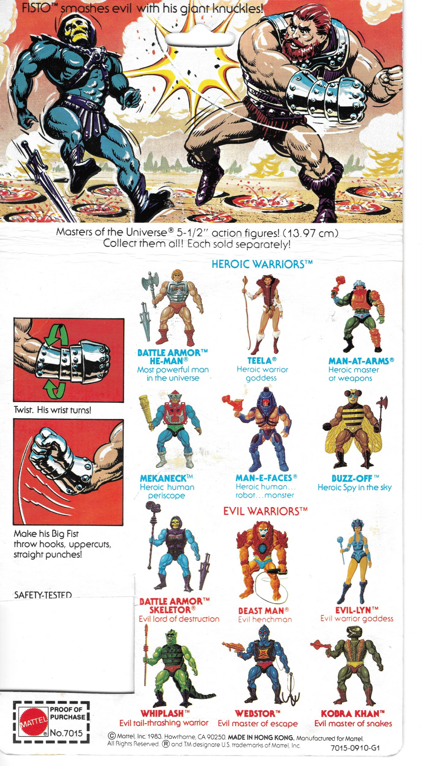 Masters of the Universe-Panini sticker nº 2,3,4,5,13,16,17,18-1983 fimation